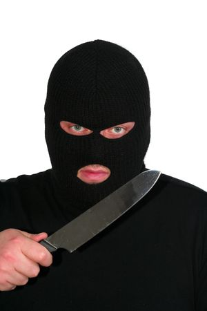 Criminal series 2 - the robber with a knife Stock Photo - 635739