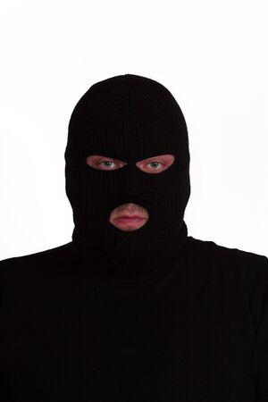 Criminal series 6 - convict wearing a ski mask (balaclava) Stock Photo - 635737