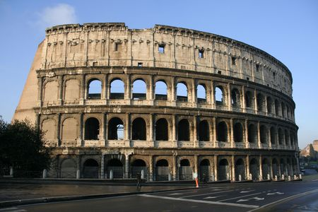 Il Colosseo also known as Flavian Amphitheatre, Romes famous landmark