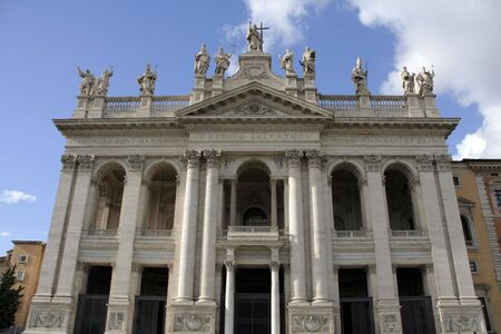 ecclesiastical: Basilica di San Giovanni in Laterano in Rome the official ecclesiastical seat of the pope and a major tourist attraction