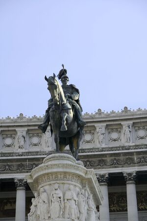 Monument of Vittorio Emanuele II at Piazza Venezia in Rome photo