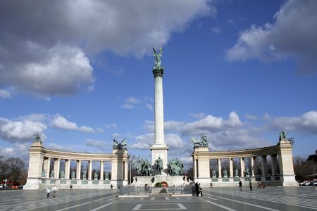 Heroes Square (Hos�k tere) in Hungarian capital of Budapest Stock Photo