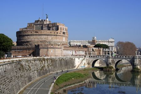 hadrian: Original mausoleum of Hadrian and a later papal fortress of Castel SantAngelo