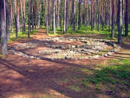 neolithic: Celtic c�rculo de piedra neol�tica en el norte de Polonia