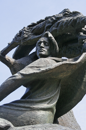 frederic: Estatua de Federico Chopin en el Parque Lazienki en Varsovia, Polonia Foto de archivo