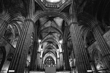 The gothic quarter of Barcelona Stock Photo