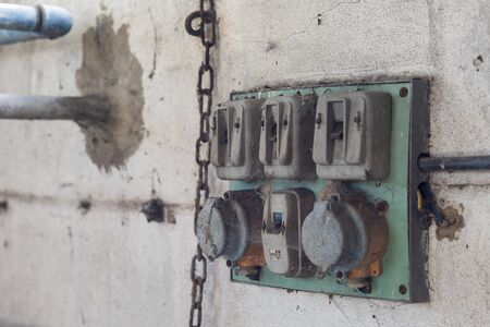 An abandoned old electrical component