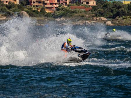 Olbia, Italy - June 02 - 2019 Aquabike world Championship grand prix of Italy