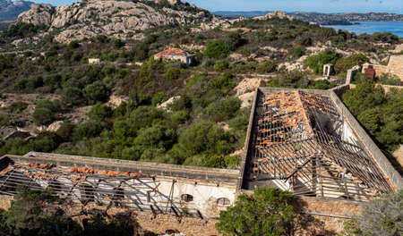 A picture of the abandoned military base of Capo D'Orso