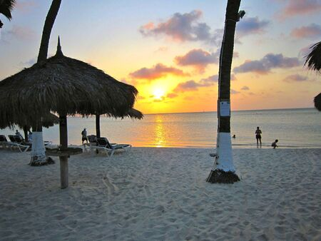 Aruba beach sunset