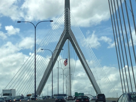 Zakim Bridge Boston MA Zdjęcie Seryjne - 21472712