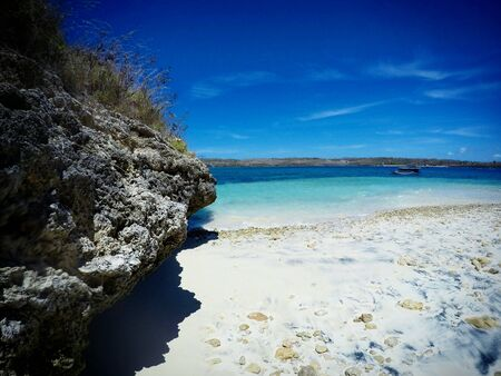 lombok: Petelu island, the most pristine snorkling site around Lombok island. Stock Photo