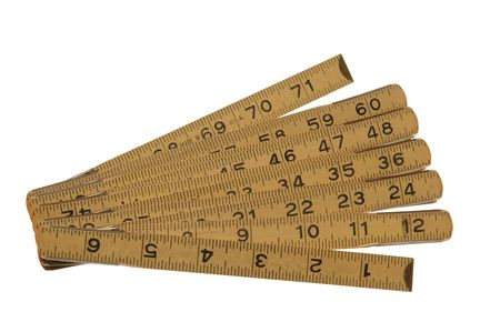 Antique Hinged 6 Wooden Ruler photo