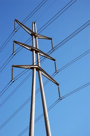 Power Lines &Blue Sky