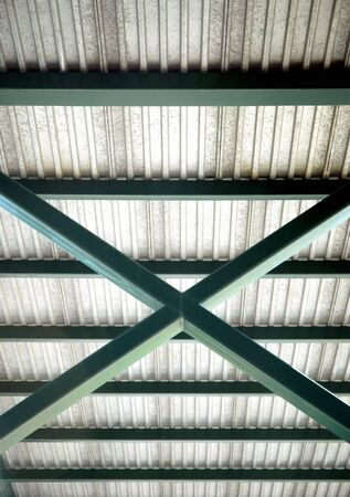 superstructure: Under side of Bridge with framework detail Stock Photo