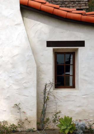 White Cottage Window & Chimney