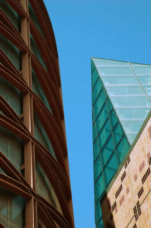 superstructure: Modern Buildings against Blue Sky