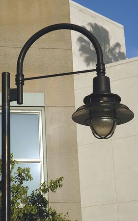 street lamp: Street Lamp against Modern Building