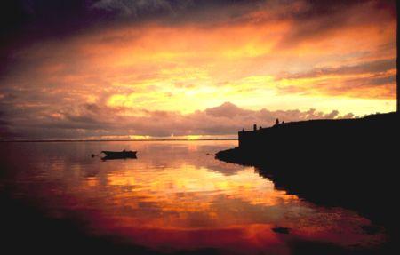 Sunset Laguna Guerrero Negro