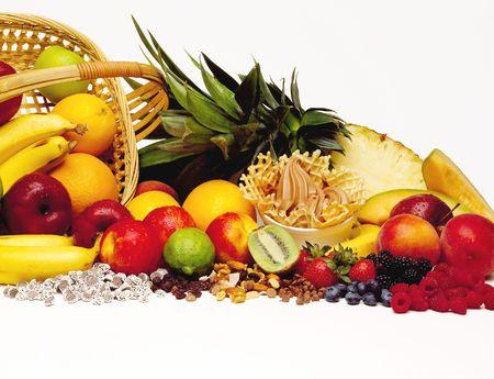 Frozen Yogurt with Fruit & Toppings Stock Photo