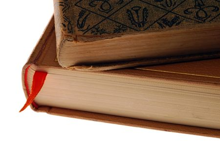 tomes: Two Old Books Stock Photo