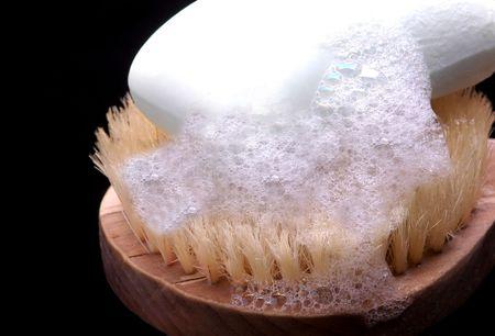 sudsy: Bar of Soap on Scrub Brush