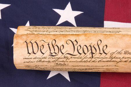 constitucion: Cierre de Constituci�n de los Estados Unidos en Bandera
