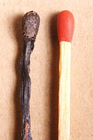 Two Matches, one used and one unused Imagens - 1629462