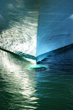 prow: Ships Prow with reflections on the water Stock Photo