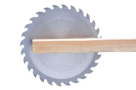 Circular Saw Blade in raad geïsoleerde over wit