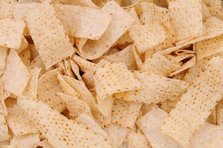 tortilla de maiz: Detalle de las tiras de tortilla, llena el cuadro. Foto de archivo
