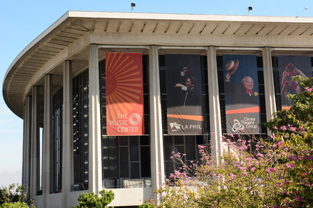 chandler: LOS ANGELES, CA - February 17, 2014: The Performing Arts Center of Los Angeles County, is home to the Dorothy Chandler Pavilion, Ahmanson Theater, Mark Taper Forum and Walt Disney Concert Hall.