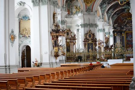 galla: ST. Gallo, Svizzera - 10 luglio 2014: L'Abbazia di San Gallo. La cattedrale cattolica romana, in esistenza dal 719, � stato un patrimonio mondiale dell'UNESCO dal 1983.