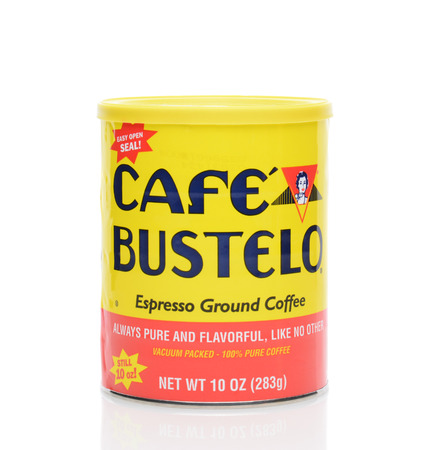 east espresso: IRVINE, CA - JUNE 23, 2014: A can of Cafe Bustelo Espresso. Bustelos Coffee Roasters was started in 1931 in East Harlem, New York, by Gregorio Bustelo.