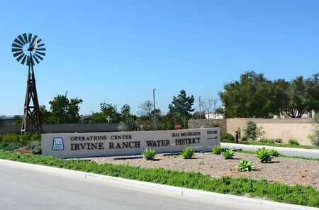 special operations: IRVINE, CA - FEBRUARY 10, 2015: Entrance to the Irvine Ranch Water District Operations Center.  The IRWD  is a California Special District formed in 1961 under the California water code.