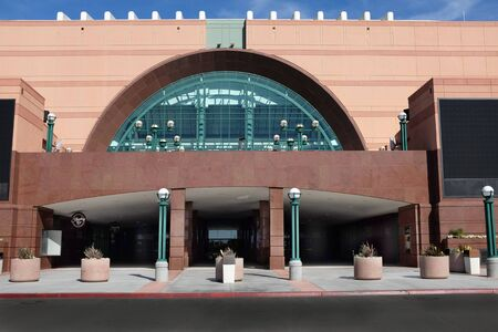 afl: ANAHEIM, CA - FEBRUARY 11, 2015: The Honda Center in Anaheim, California.The arena is home to the Anaheim Ducks of the National Hockey League and the Los Angeles Kiss of the Arena Football League. Editorial