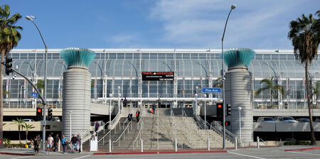 LONG BEACH, CA - FEBRUARY 21, 2015: Long Beach Convention & Entertainment Center. The center has more than 400,000 square feet of meeting and exhibit space.
