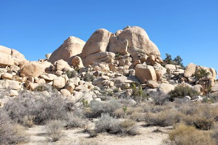 joshua tree national park: Boulders at Joshua Tree National Park, California.