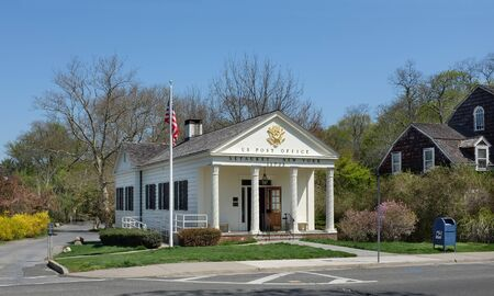restored: SETAUKET, NY - MAY 4, 2015: US Post Office. Recently restored the building is in the Frank Melville Memorial Park in Setauket, Long Island, New York.