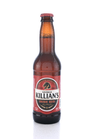 purchased: IRVINE, CA - JUNE 14, 2015: George Killians Irish Red. The brand was introduced to America by Coors who purchased the rights from Pelforth Brewery. Editorial