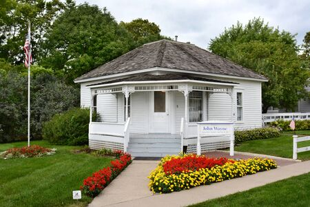 john wayne: WINTERSET, IOWA - AUGUST 20, 2015: John Wayne Birthplace. On the grounds of the museum that opened to the public in May of 2015. Editorial