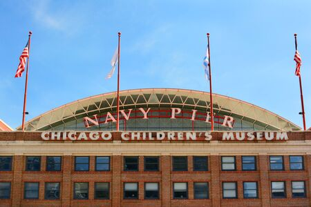 chicago: CHICAGO, ILLINOIS - AUGUST 22, 2015: Chicago Childrens Museum. The museum is located on Navy Pier, along the shore of Lake Michigan.