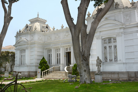 lima: BARRANCO, PERU - OCTOBER 18, 2015: Pedro de Osma Museum. Opening in 1988, the museum in the suburbs of Lima is dedicated to preserving Peruvian viceregal artworks.