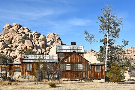 ranch house: JOSHUA TREE, CALIFORNIA - JANUARY 1, 2016: Keys Ranch House. Bill and Francis Keys were early homesteaders in what now is the National Park.