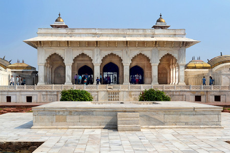 agra: AGRA, INDIA - NOVEMBER 1, 2015:  Khass Mahal, Agra Fort. The Agra Fort is a UNESCO World Heritage site located in Agra, Uttar Pradesh, India.