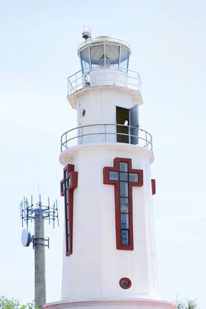 rebuild: CORREGIDOR, PHILIPPINES - APRIL 3, 2016: The Corregidor Lighthouse. Established in 1853 to guide ships to the entrance of Manila Bay and rebuild after WWII.