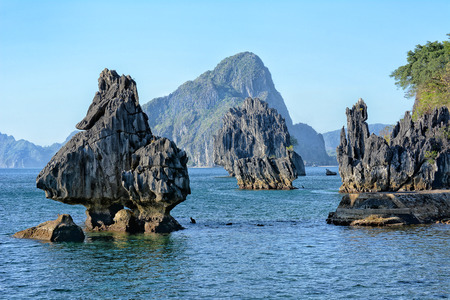 Limestone Formations at Lagen Island, El Nido, Palawan, Philippines