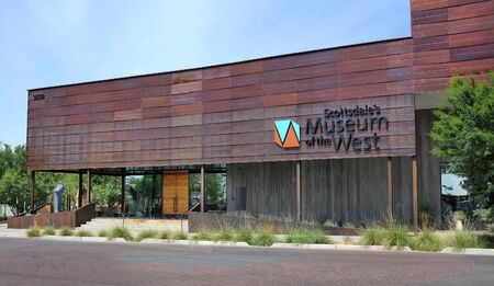 scottsdale: SCOTTSDALE, ARIZONA - JUNE 10, 2016: Museum of the West is located in Old Town Scottsdale, Arizona on the former site of the Loloma Transit Station.