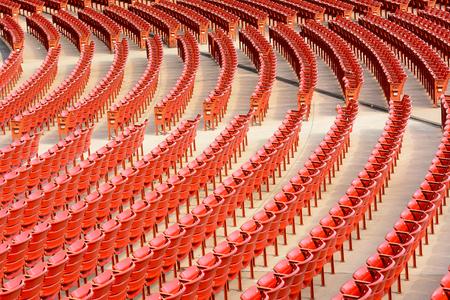 Rows of empty arena seats. Reklamní fotografie