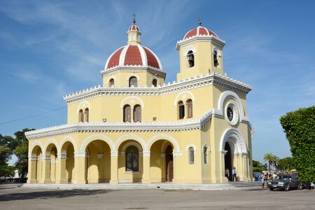 HAVANA, CUBA - JULY 22, 2016: Main Chapel at the Colon Cemetery. The cemetery is considered on ot the most important in Latin America in historical and architectural terms.